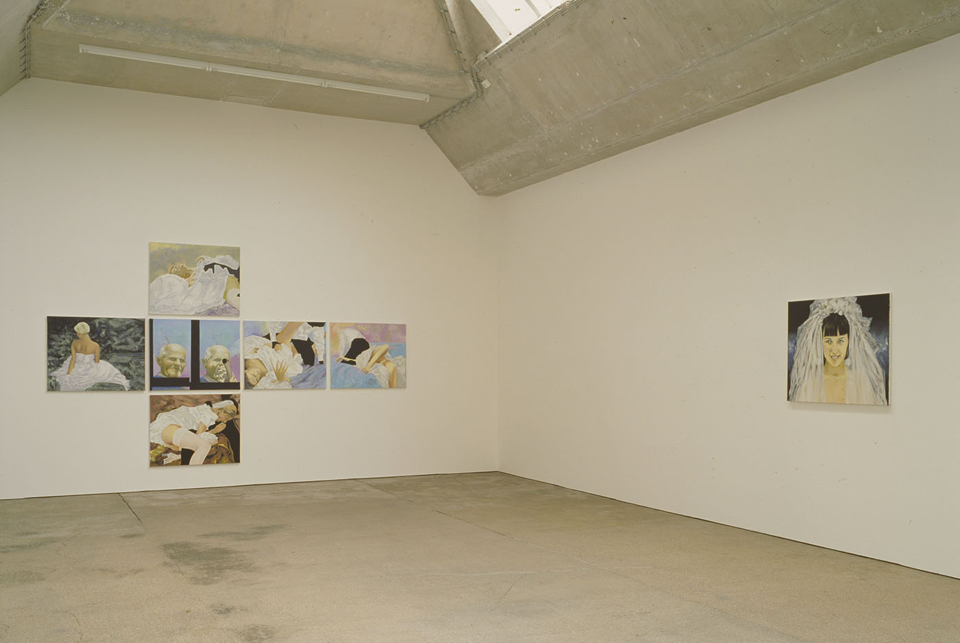 Exhibition view - History of abstraction, I Prologue, II The wedding, 2011