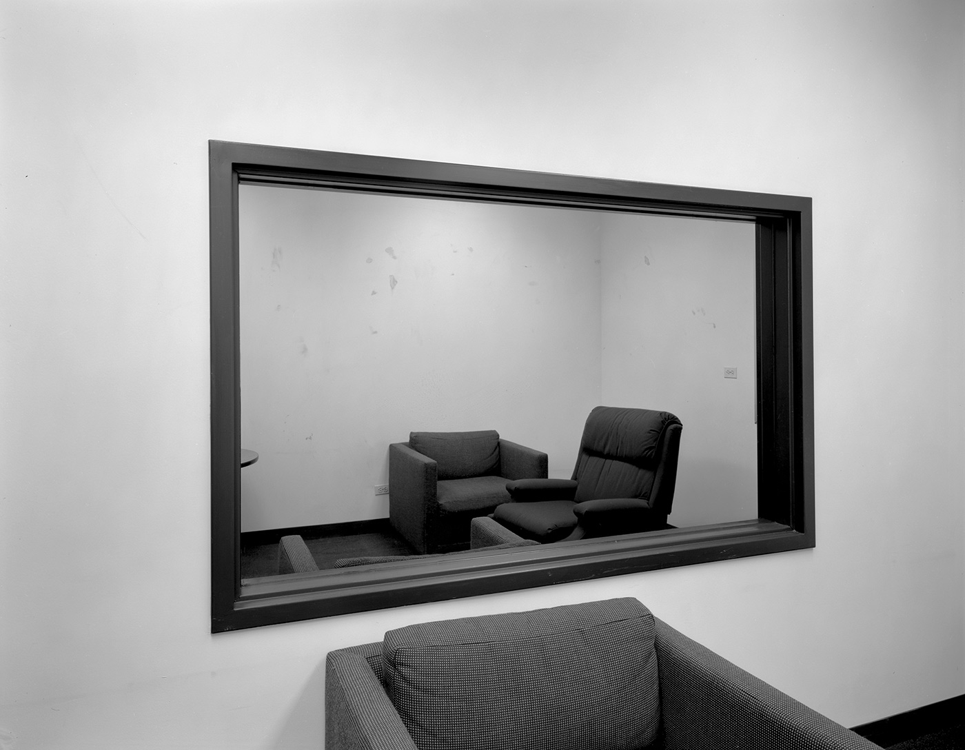 Untitled (observation room with two-way mirror), 1980-1989