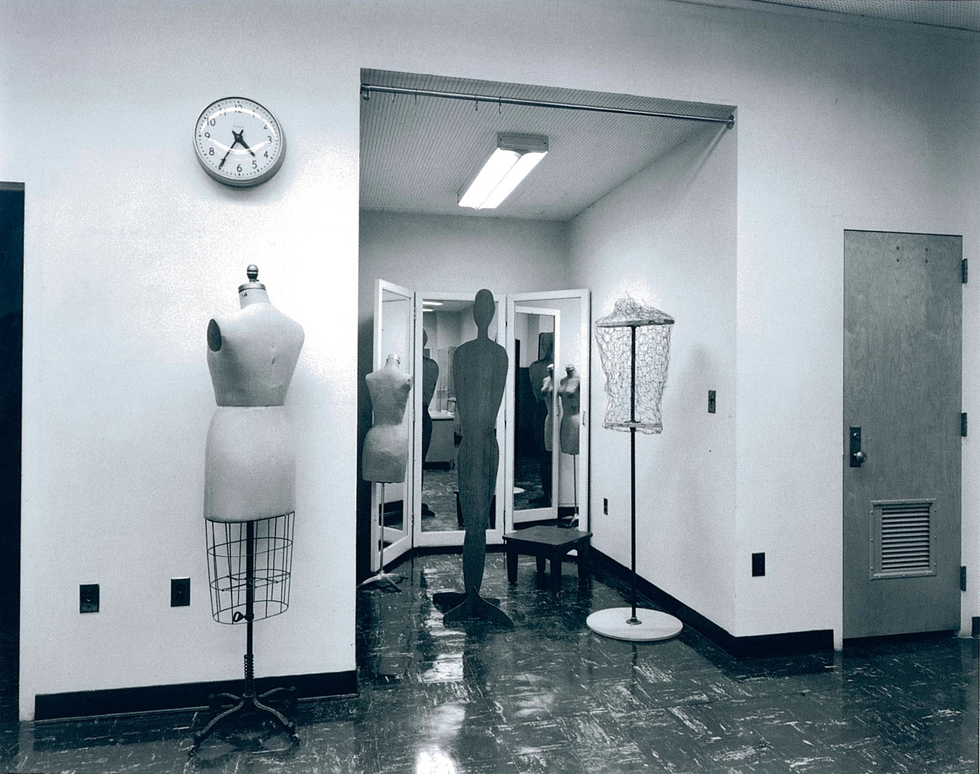 Untitled (Davis clock and seamstress dummy), 1980-1989