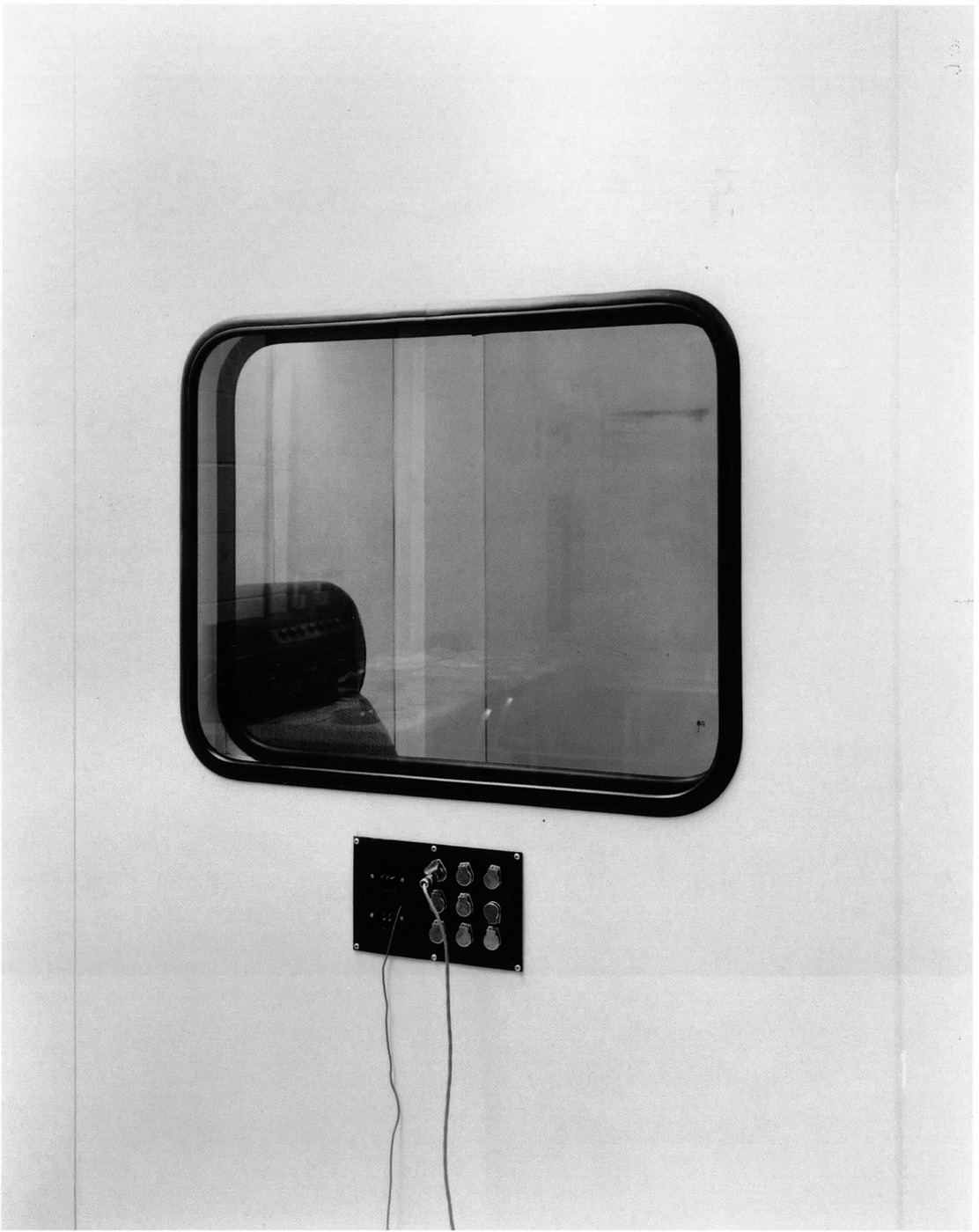 Untitled (acoustic window with chair), 1980's