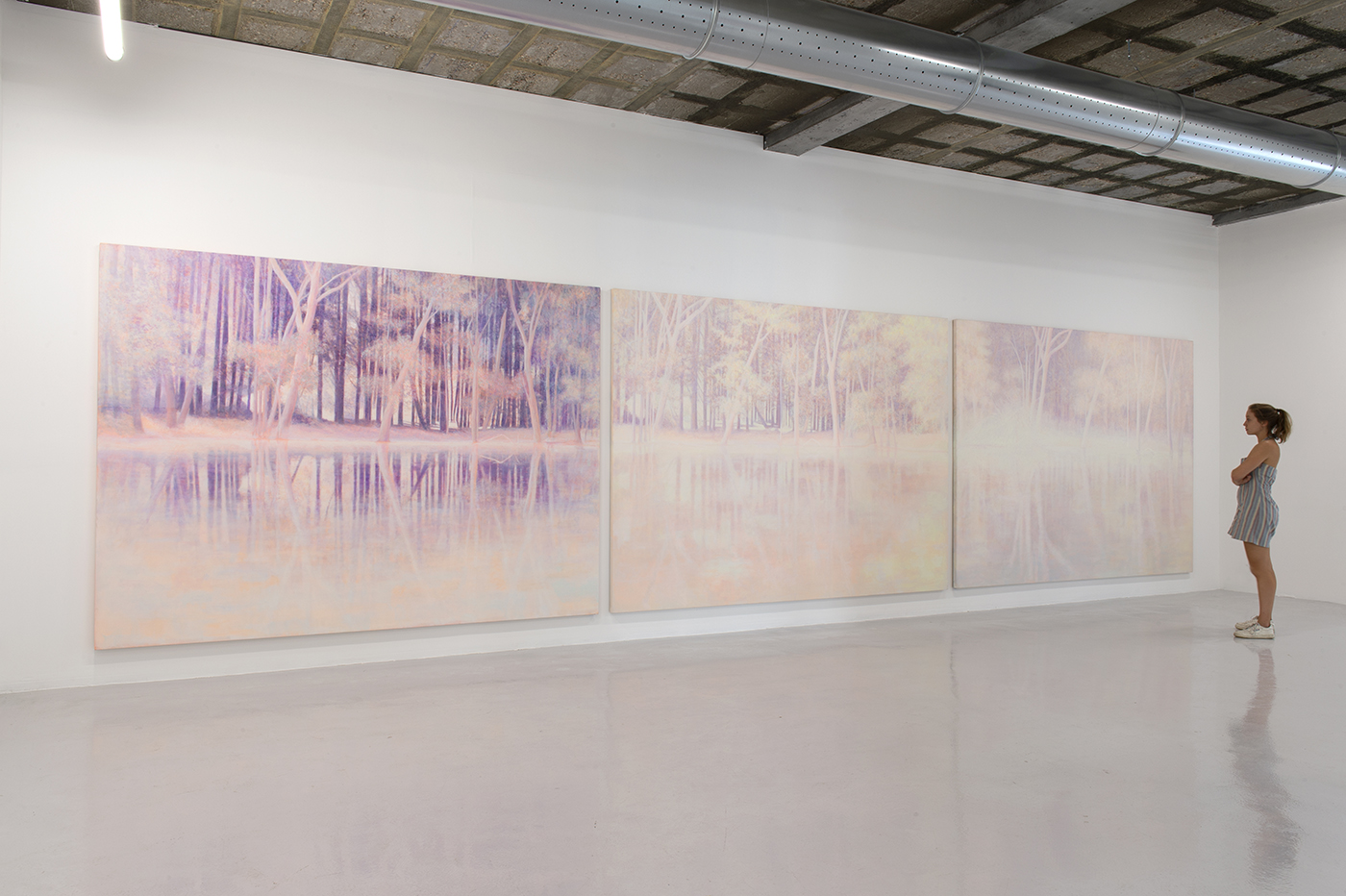 Daniele Genadry - Purple Glade, Pink Gleam, White Clearing, 2018