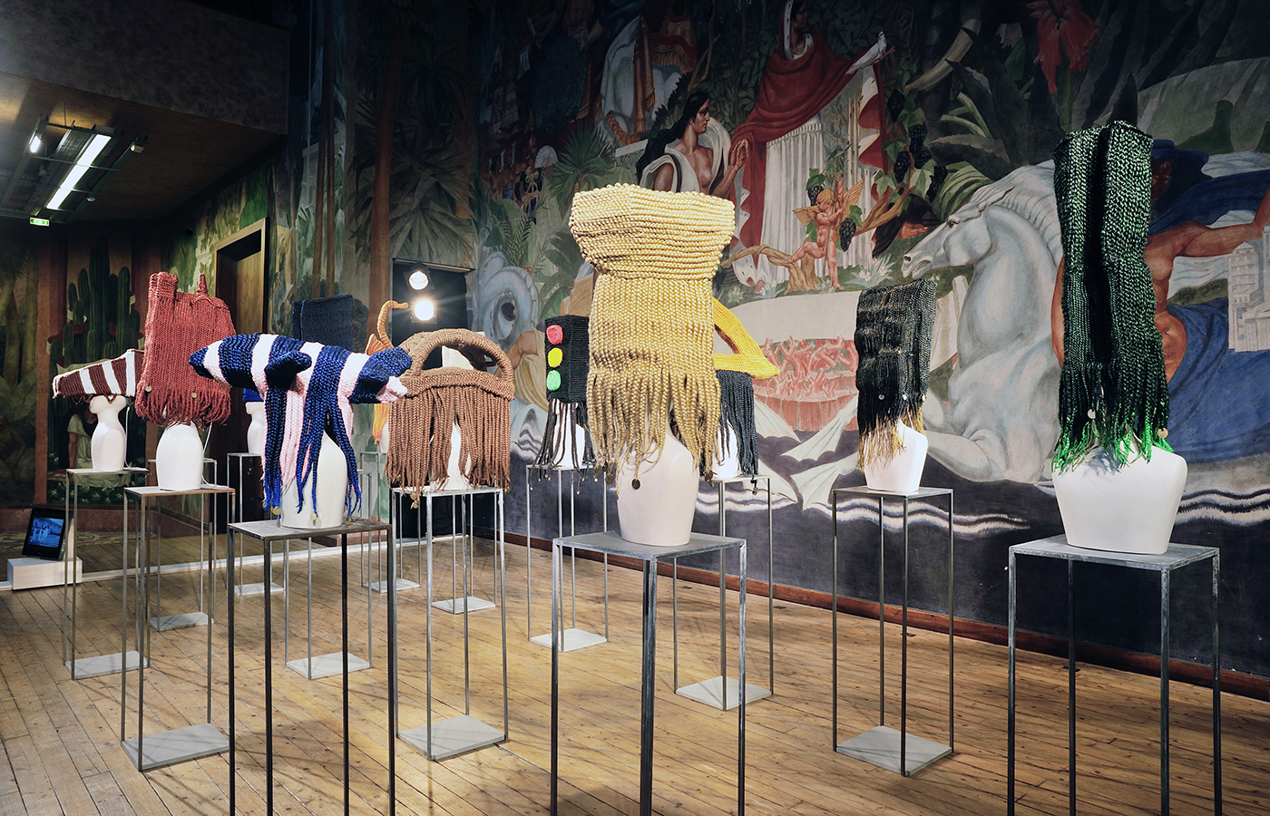 Meschac Gaba - Exhibition view - Meschac Gaba, Musee National de l Histoire de l immigration, Paris, France, till 19/09/15