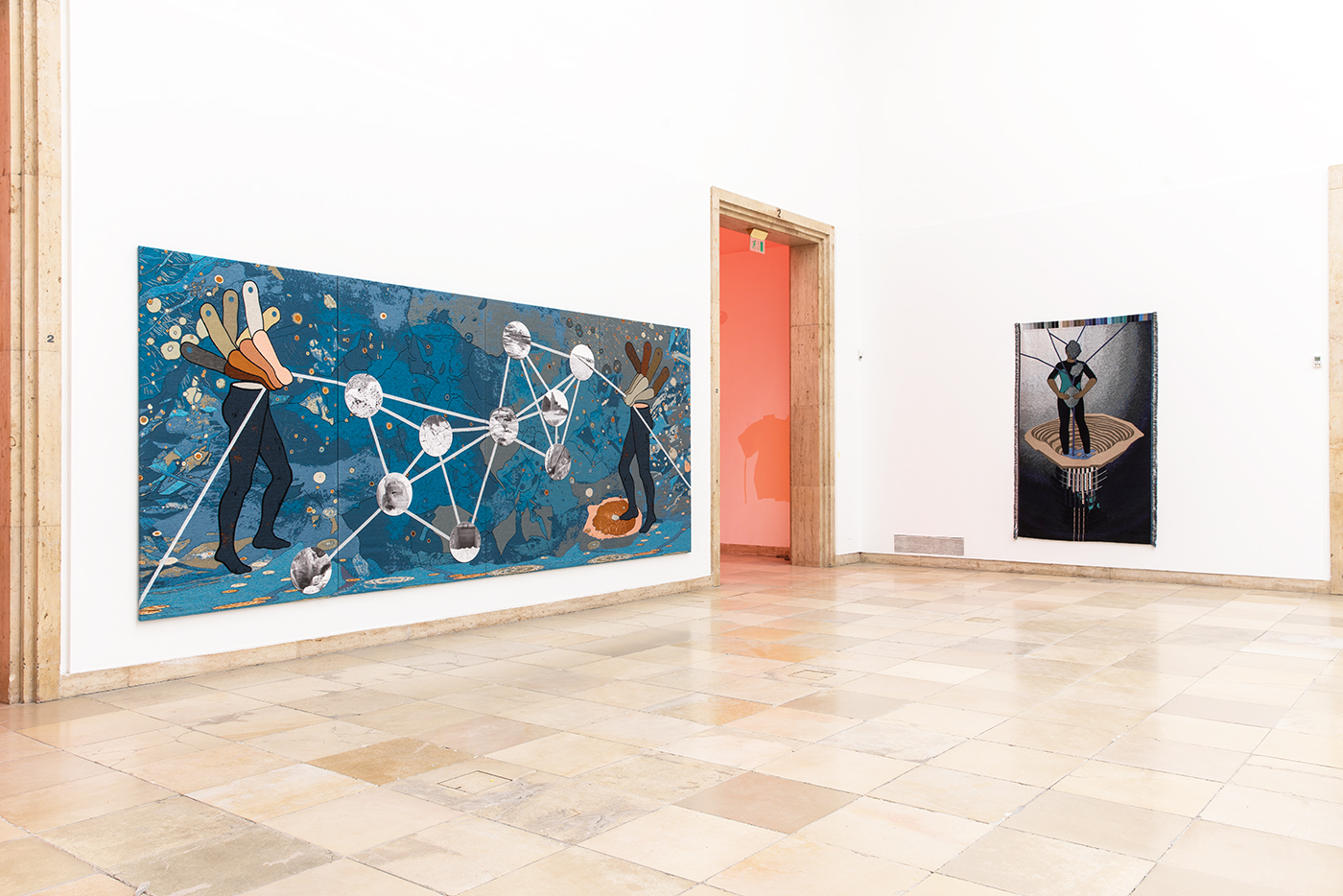 Otobong Nkanga - Exhibition view - Blind Faith : Between the Visceral and the Cognitive in Contemporary Art - Haus der Kunst, Munich, 2018